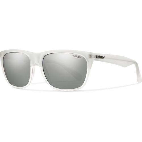Smith Optics Tioga Unisex Sunglasses with Crystal Split Frames & Super Platinum Carbonic TLT Lenses