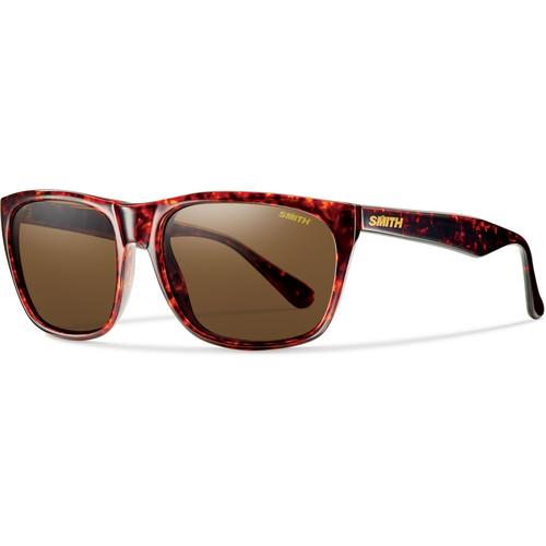 Smith Optics Tioga Unisex Sunglasses with Vintage Havana Frames & Polar Brown Carbonic TLT Lenses