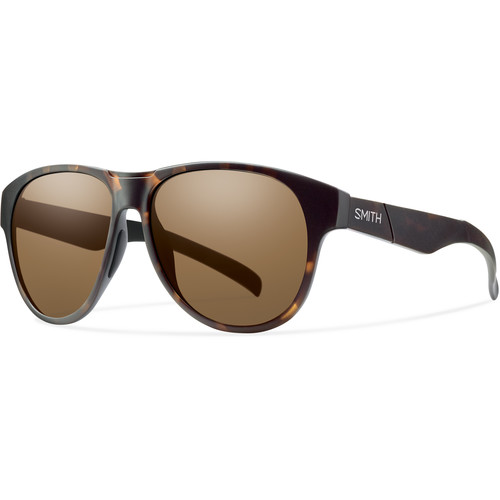 Smith Optics Townsend Sunglasses with Matte Tortoise Frames & Brown Carbonic TLT Lenses