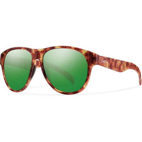 Smith Optics Townsend Sunglasses with Matte Yellow Tortoise Frames & Green Sol-X Carbonic TLT Lenses