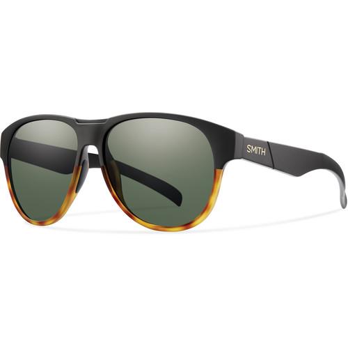 Smith Optics Townsend Sunglasses with Matte Black Fade Tortoise Frames & Gray Green Carbonic TLT Lenses