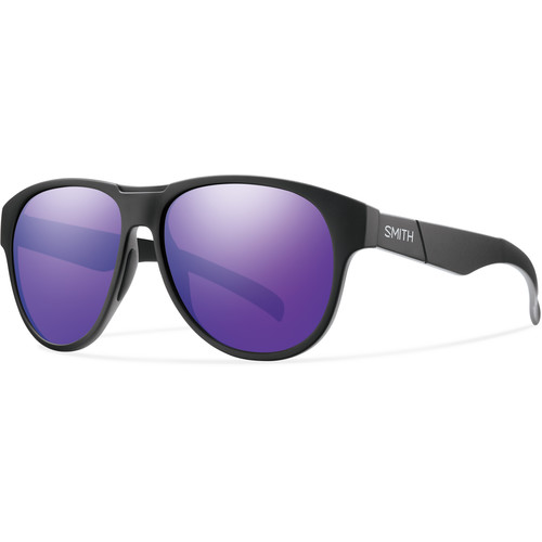 Smith Optics Townsend Sunglasses with Matte Black Frames & Purple Sol-X Carbonic TLT Lenses