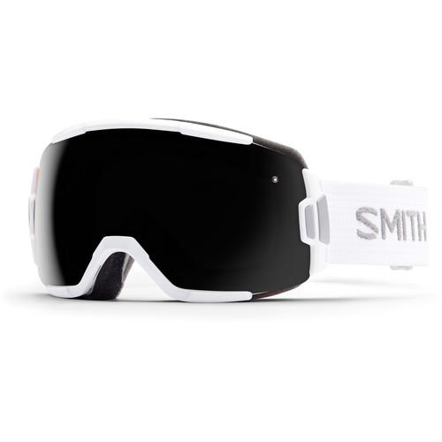 Smith Optics Medium-Fit Vice Snow Goggle (White Frame, Blackout Lens)