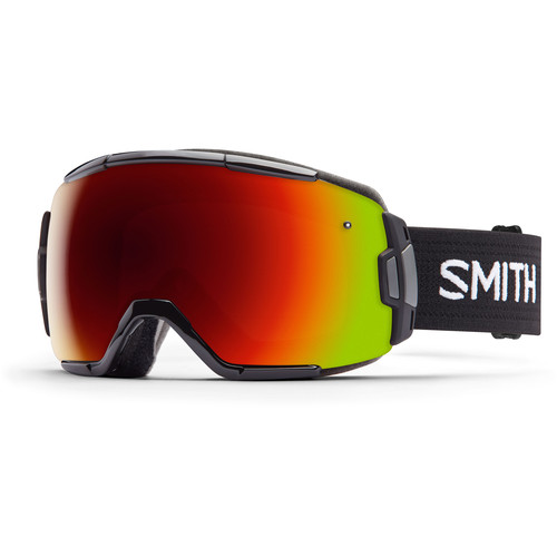 Smith Optics Medium-Fit Vice Snow Goggle (Black Frame, Red Sol-X Mirror Lens)