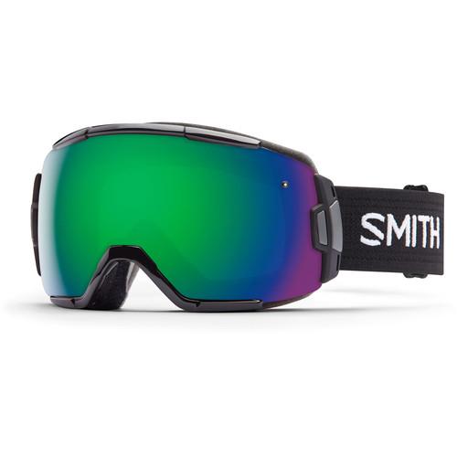 Smith Optics Medium-Fit Vice Snow Goggle (Black Frame, Green Sol-X Mirror Lens)