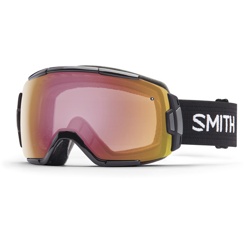 Smith Optics Medium-Fit Vice Snow Goggle (Black Frame, Photochromic Red Sensor Mirror Lens)