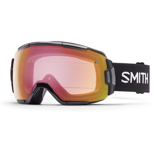Smith Optics Medium-Fit Vice Snow Goggle (Black Frame, Red Sensor Mirror Lens)