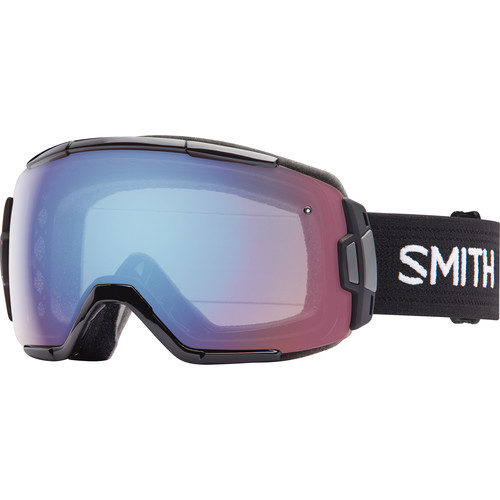 Smith Optics Medium-Fit Vice Snow Goggle (Black Frame, Blue Sensor Mirror Lens)