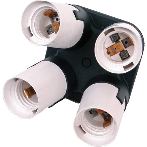 Smith-Victor Quad Socket for Fluorescent and LED Lamps