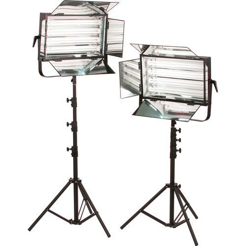 Smith-Victor FLO-220 440W Dimmable Fluorescent 2-Light Kit