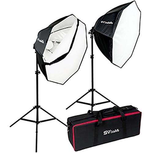 Smith-Victor OctaBella 1000W 2-LED Light Softbox Kit