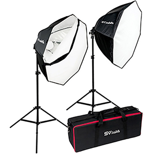 Smith-Victor OctaBella 1000W 2-LED Light Softbox Kit