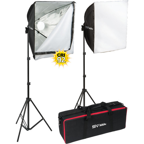 Smith-Victor BellaBox 1000 2-Light Softbox LED Kit
