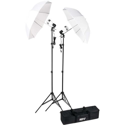Smith-Victor KT750LED 2-Light Umbrella Kit