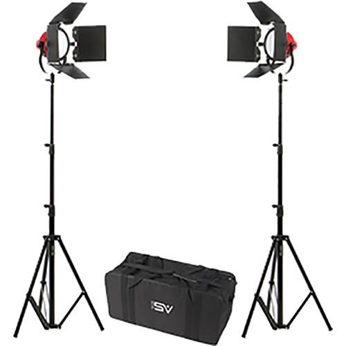 Smith-Victor LadyBug LED 2-Light Kit with Case