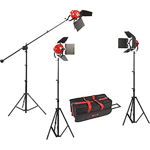 Smith-Victor LadyBug 1500 LED 3-Light Kit with Boom Arm