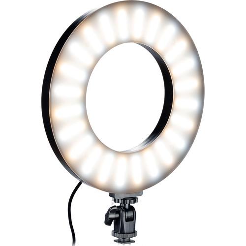 "Smith-Victor RL-LED20 9"" Bi-Color LED Ring Light with Tilt Adapter"