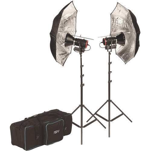 Smith-Victor CooLED50K 2-Light LED Kit with Barndoors and Case