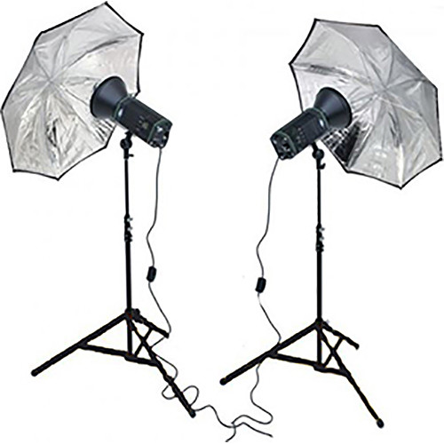 Smith-Victor CooLED100K 2-Light LED Kit with Umbrellas and Case