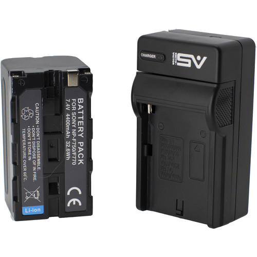 Smith-Victor NP-F750 Lithium-Ion Battery and Single Charger