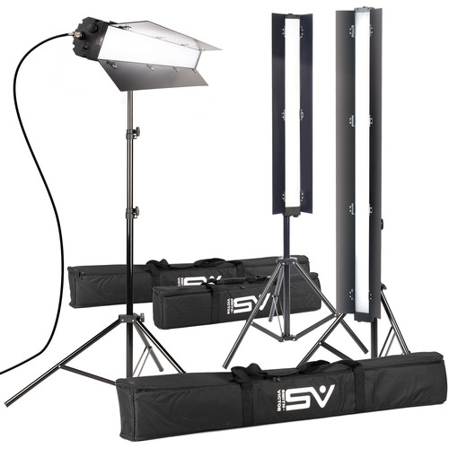 "Smith-Victor ACIES 3K Pro Series Soft LED 3-Light Kit (48"")"