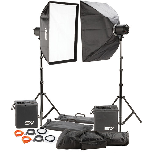 Smith-Victor LED Cine-Flood 3000 Light with Bowens Mount, Two-Light Kit (2 x 150W)