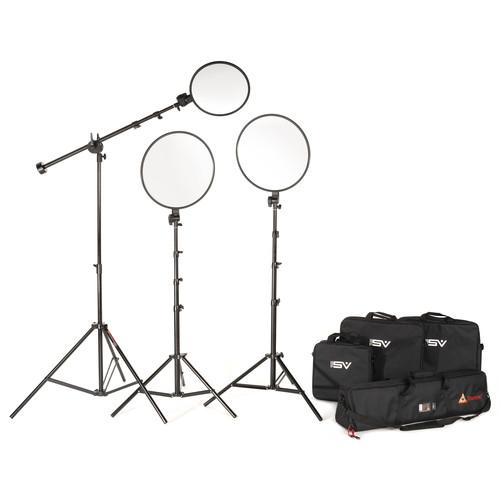 Smith-Victor Edge360 Daylight LED 3-Light Boom Kit