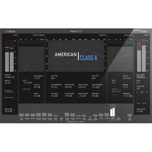 Softube American Class A - Console Emulation Plug-In for Pro Audio Applications (Download)