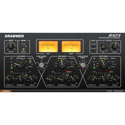 Softube Drawmer 1973 Multi-Band Compressor - Dynamics Plug-In (Download)