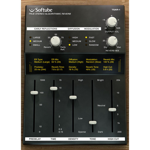 Softube TSAR-1 Reverb Upgrade - Stereo Reverb Plug-In (Download)