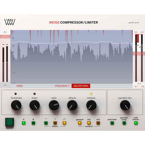 Softube Weiss Compressor/Limiter - Dynamics Processing Plug-In for Pro Audio Applications (Download)