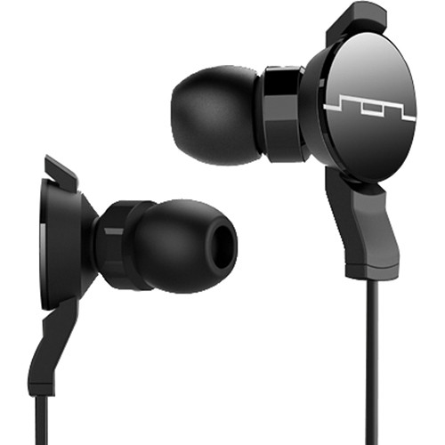 SOL REPUBLIC Amps In Ear Headphones with Single-Button Remote (Black)