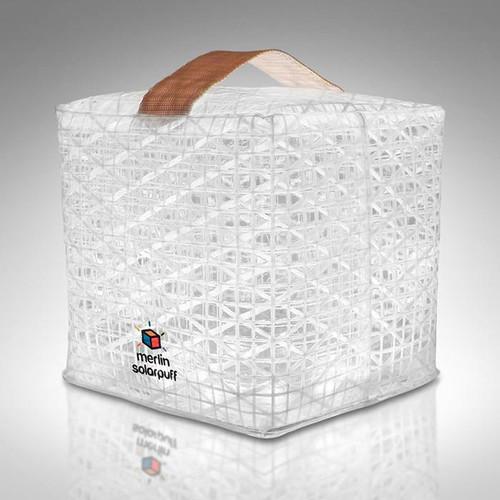 Solight Design SolarPuff Merlin Multi-Color Collapsible LED Lantern