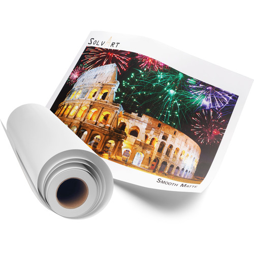 """SolvArt Smooth Matte 210 Photo Paper Roll with 3"""" Core (54"""" x 150')"""