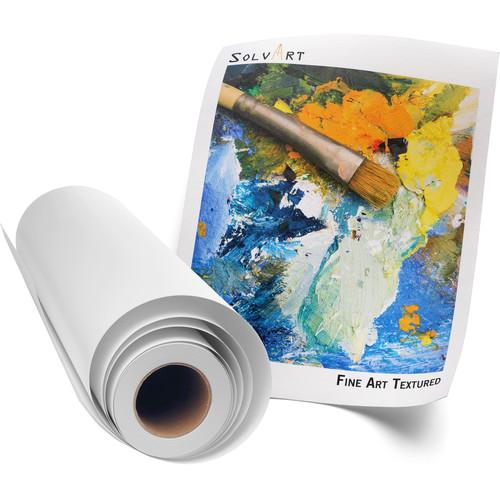 """SolvArt Fine Art 300 Textured White Paper (54"""" x 75')"""