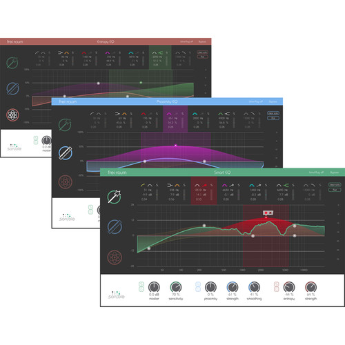 Sonible frei:raum - Spectral Balance, Reverb Adjustment, Tonal Modification EQ Plug-In (Download)