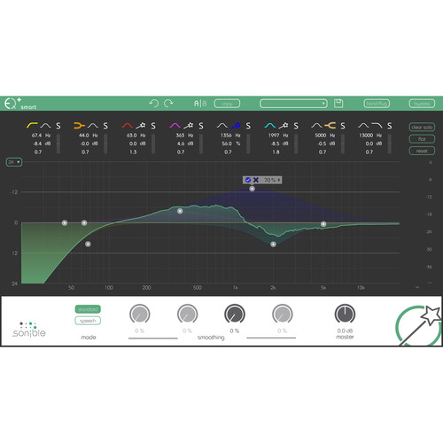 Sonible Smart:EQ+ - Intelligent Equalization Software for Audio Mixing and Post Production (Download)