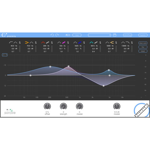 Sonible proximity:EQ+ - Intelligent Equalization Software for Audio Mixing and Post Production (Download)