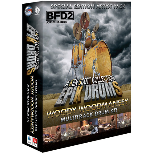 Sonic Reality EpiK DrumS - Woody Woodmansey Kit Expansion Pack for BFD2/3 (Download)
