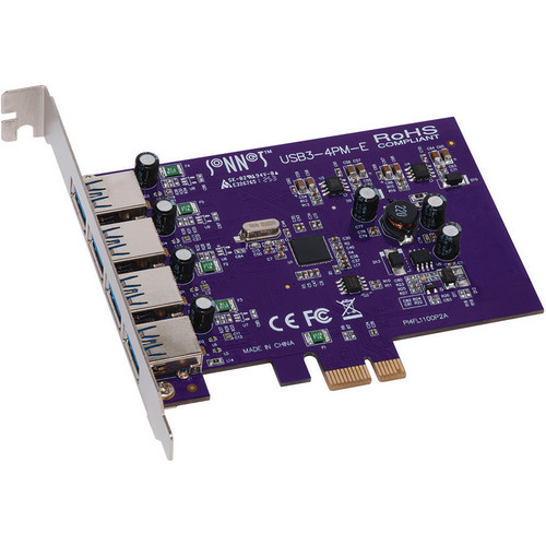 Sonnet USB3-4PM-E Allegro 4-Port USB 3.0 PCI Express Card
