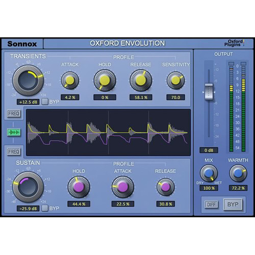 Sonnox Oxford Envolution - Frequency-Dependent Envelope Shaper (Pro Tools HD-HDX, Download)