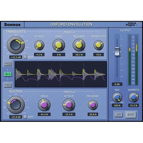 Sonnox Oxford Envolution - Frequency-Dependent Envelope Shaper (Pro Tools HD-HDX, Download)