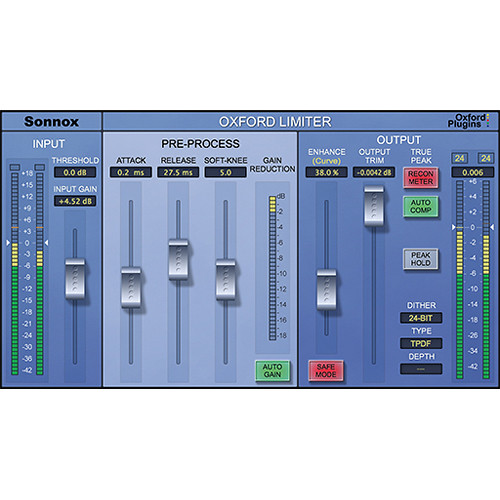 Sonnox Oxford Limiter v2 - True Peak Limiter Plug-In (Pro Tools HD-HDX, Download)