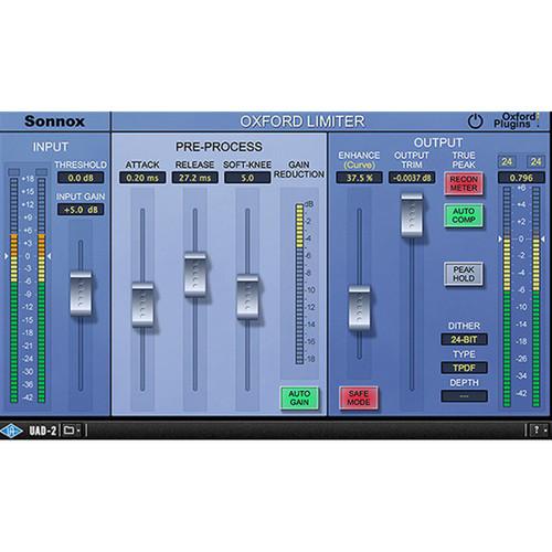 Sonnox Oxford Limiter v2 True Peak Limiter Plug-In (Native, Download)