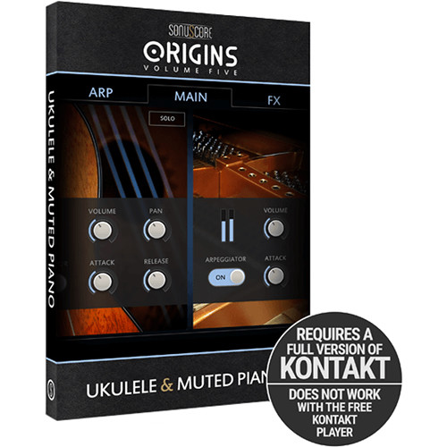 SONUSCORE Origins Volume 5: Ukulele and Muted Piano Virtual Instrument Library (Download)