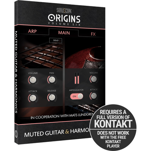 SONUSCORE Origins Volume 6: Muted Guitar and Harmonics Virtual Instrument Library (Download)
