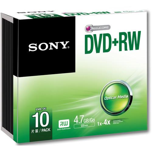 Sony 4.7GB DVD+RW 4x Discs (10-Pack)