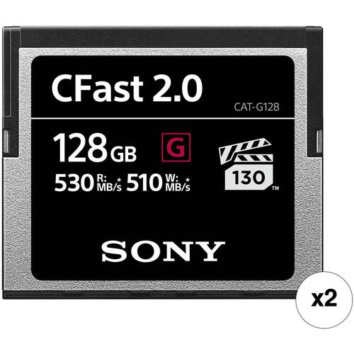 Sony 128GB CFast 2.0 G Series Memory Card (2-Pack)