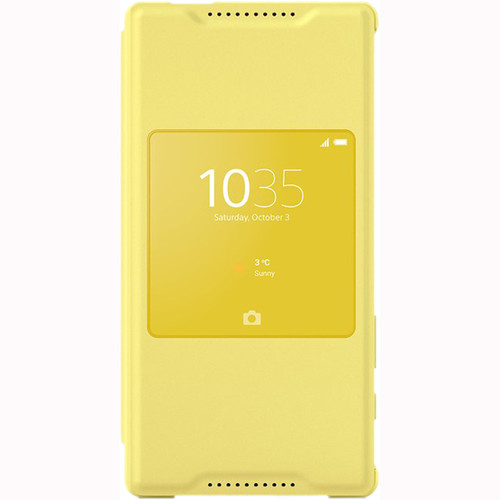 Sony SCR44 Style Cover Window for Xperia Z5 Compact (Yellow)