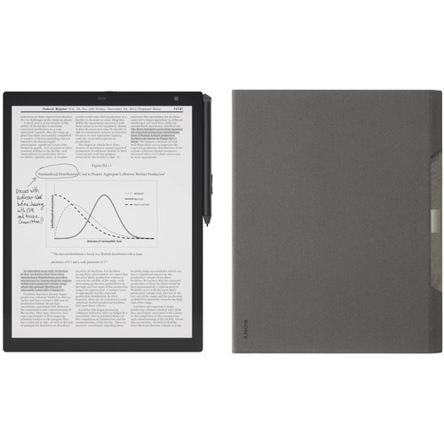 "Sony 13.3"" 16GB DPT-RP1 Digital Paper System & Gray Cover Kit"